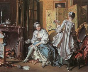 Туалет, 1742 г., холст, масло, частная коллекция