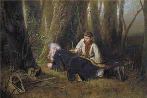 """В.Г. Перов  """"Птицелов"""". 1870 г."""