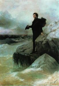И. К. Айвазовский «Прощание Пушкина с морем» . 1887 г.