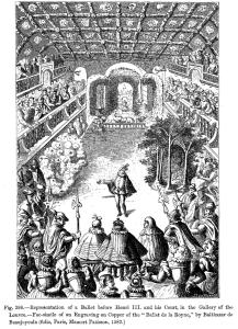 Гравюра первой сцены в Ballet Comique de la Reine.