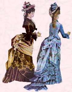 """""""Мода для девочек тоже включала ношение турнюра."""""""